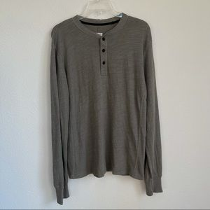 Rag & Bone Long Sleeve Henley Shirt